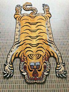 Tibetan Tiger silk skin rug