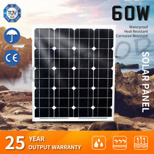 12V 60W Solar Panel Kit Sunpower Generator Caravan Camping Power Mono 4x4 4WD
