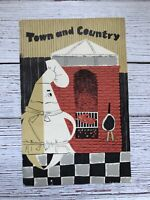 Vintage Town and Country Restaurant Menu Dallas Texas 1950's 1960's Food
