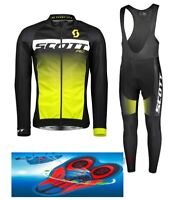 Divisa invernale SCOTT RC BLACK/YELLOW cycling SET winter thermal 9D GEL PAD