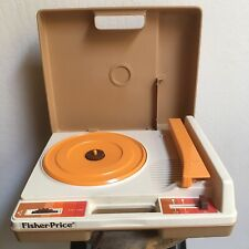 Vtg Fisher Price Portable Record Player #825 Phonograph Turntable 33 45 RPM