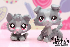LPS ❤️ LITTLEST PET SHOP ❤️ GRAY COLLIE DOG AND HUSKY PUPPY CUSTOM HAND PAINTED
