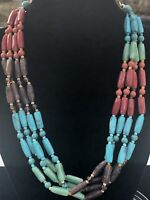 Gorgeous Multi Color Boho Lucite Beaded Necklace
