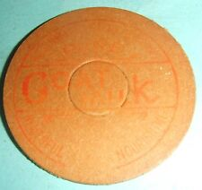 Vintage Card Milk Bottle Top - Goat Milk. Red. Faded.