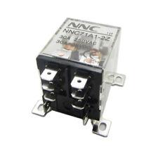 DC 12V 24V AC 220V Coil High Power Relay 30A DPDT 2 NO + 2 NC 8 Pins Screw Mount