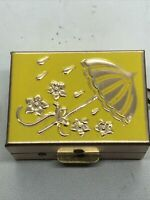 Vintage Pill Box Brass  Medicine Travel Box