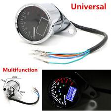 Motorcycle LCD Speedometer Odometer Tachometer Multifunction Fuel Gauge