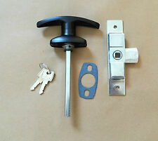 Black T Handle & Budget Lock / Latch for Catering Trailers Horsebox Coach