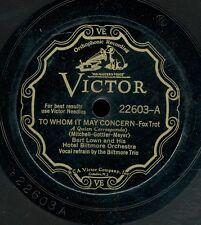 15pc78-Jazz-Victor 22603-Bert Lown orchestra / Duke Ellington & Cotton Club Ork.