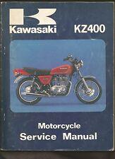 1978 KAWASAKI KZ400 MOTORCYCLE SERVICE SHOP REPAIR MANUAL