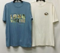 Tommy Bahama Men's 2 Pack 100% Cotton 2nd Quality Crew Neck T-Shirts