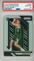 2018-19 Prizm Silver Donte DiVincenzo #246 PSA 10 RC Rookie Milwaukee Bucks