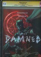 Batman Damned 1 Lee Variant CGC SS 9.8 2X DOUBLE SIGNED  Azzarello Bermejo