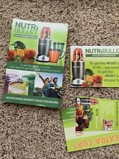 NUTRI BULLET USER GUIDE & RECIPE BOOK + Bonus Pocket Nutritionist Guide