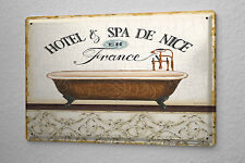 Tin Sign  Bath Spa Nice  Metal Plate