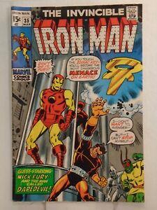 Marvel IRON MAN #35 (1971) Daredevil, Nick Fury, & Madame Masque Appearance