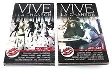 8 CDS VIVE LA CHANSON VOL. 1 und 2 Piaf etc. DIVERSE INTERPRETEN / 2 x 4 CD-SET