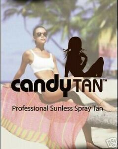 GO FROM WHITE TO BROWN WITH CANDY TAN SUNLESS FAKE TANNING SOLUTION 1 LTR 8%