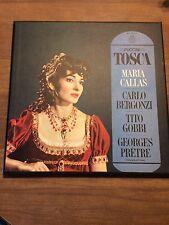 PUCCINI: TOSCA Maria Callas, near mint, Angel Blue Label 2LP Mono