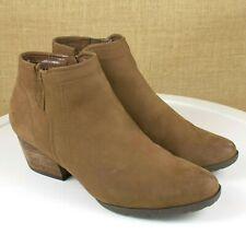 Blondo Valli Cognac Nubuck Ankle Boots Size 8.5