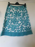 Boden A Line Cotton Retro Print Skirt Size 12 L