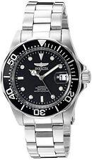 Invicta Automatic Hombre Reloj Man Watch Crystal Hand Arm Bracelet Silver Plata