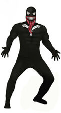 Adult Mens Venom Costume Fancy Dress Halloween Spiderman Outfit Black NEW 38-44