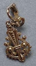 älterer einzelner Ohrring Anhänger Modeschmuck silberfarben old single earring