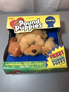 VINTAGE 1996 POUND PUPPIES PUREBREDS CHOW FAMILY GALOOB NEW SEALED !