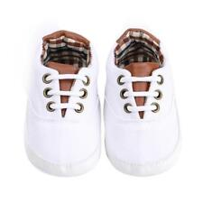 Soft Sole Newborn Baby Boy Shoes Sneakers Type Canvas Material Cross Tie Design