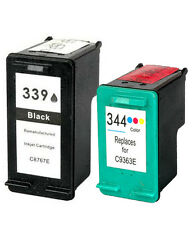 Non-OEM Replaces For HP 339 344 Photosmart Pro B8350 B8353 Ink Cartridges