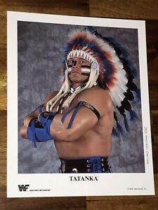 ORIGINAL WWF PROMO PHOTO - TATANKA 1994 - VINTAGE WWF TATANKA PROMO PHOTO - WWE