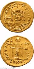 Byzantine Gold Solidus Coin Maurice Tiberius Constantinople 582-602 Ad