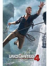 "UNCHARTED 4 POSTER ""JUMP"" BRAND NEW ""LARGE SIZE 61cm X 91.5cm"" A THIEF'S END"
