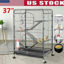 """Large Ferret Cage Small Pet Chinchilla Rabbit Hamster Rat Metal House Cage 37"""""""