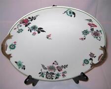 """Vintage Limoges Ahrenfeldt Handled Serving Plate Platter Floral Red Green 11"""""""