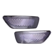 Pair Smoke Rear Tail Light Reflector For Jeep Grand Cherokee Compass Dodge 11-16