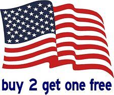 "American Flag Bumper Sticker - Patriot USA - Waving 4"" x 6"" - GoGoStickers"