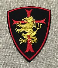ST6 Navy SEAL TEAM 6 DEVGRU GOLD SQUADRON Black/Red Crusader Shield Lion Patch