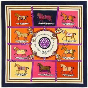 Twill Seide Schal Designer Inspiriert Pferd Print Shawl Square Schals Wrap 100cm
