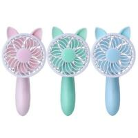Portable Handheld USB Rechargeable Mini Cute Fan 3 Modes Speed Fan Air Cooler