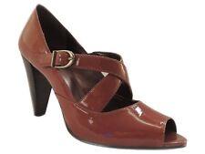 Anne Klein Women's Jules Open Toe Pump Medium Brown Size 10 M
