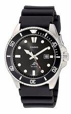 Casio MDV106-1 Men's 200M Black Resin Band Black Dial Analog Watch