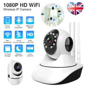 1080P HD Wireless WIFI IP CCTV Camera Smart Home Security Night Vision Indoor UK