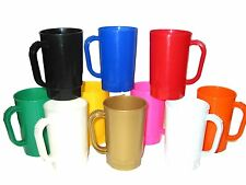 40 1 Pint Beer Mugs, Mix of Colors Mfg USA,  Lead Free, No BPA, Dishwasher Safe