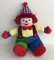 "Gymboree Gymbo The Clown Plush Soft Toy Stuffed Gym-Mark 2005 Doll 18"""