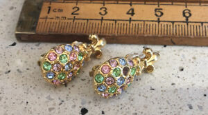 Vintage Earrings, Vintage Joan Rivers Earrings, Pineapple Design