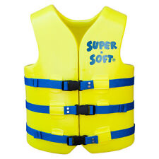 Texas Recreation Adult Vinyl Swimming Pool, Lake Pond Vest - Yellow - Medium