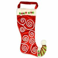 Christmas Traditional Designer Santa Stockings Sock Xmas Garden Event Supply