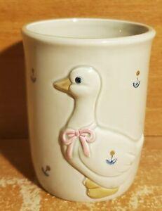 "Otagiri Duck Bath Tumbler, 8 oz / 3 3/4"", Japan, Embossed"
